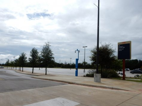 The Park West lot is located near the track and tennis court. Photos by Isaac Serna, The Paisano