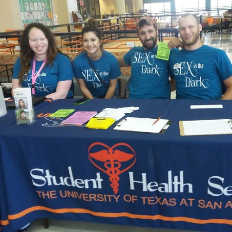 Students helped organize the Sex in the Dark event. Photo by Annette Barraza, The Paisano