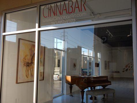 The Cinnabar Gallery is located near Blue Star Contemporary Art Museum. Raquel E. Alonzo, the Paisano