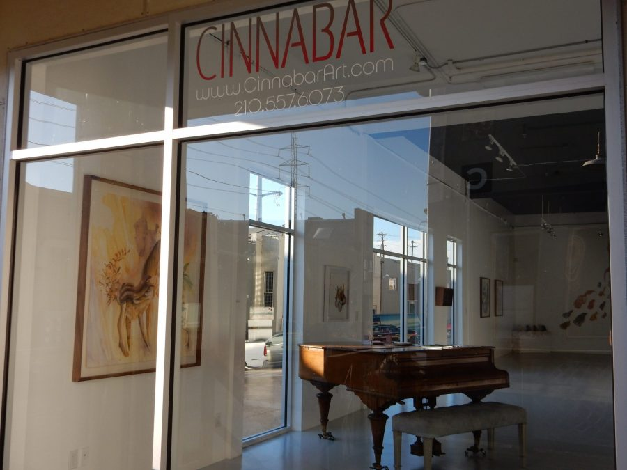 The Cinnabar Gallery is located near Blue Star Contemporary Art Museum. Raquel E. Alonzo, the Paisano
