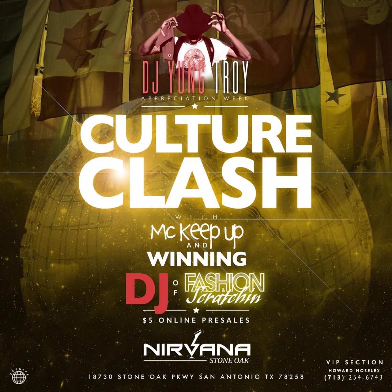 Culture Clash flyer for fashion show