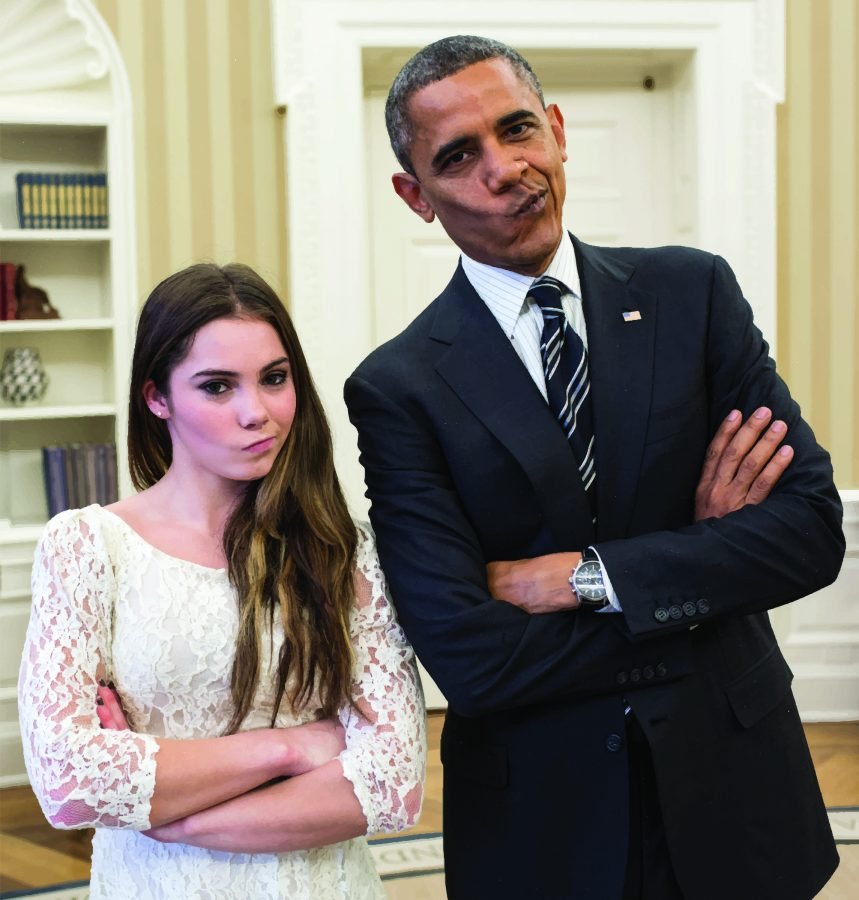 President+Barack+Obama+jokingly+mimics+U.S.+Olympic+gymnast+McKayla+Maroney%27s+%22not+impressed%22+look+while+greeting+members+of%0Athe+2012+U.S.+Olympic+gymnastics+teams+in+the+Oval+Office%2C+Nov.+15%2C+2012.+Pete+Souza%2C+The+White+House