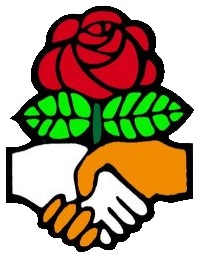 The rose is the most widely used symbol among socialists. Courtesy of DSA