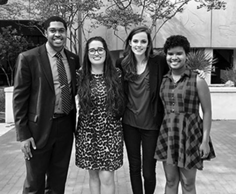 The newly elected SGA executive team. Photo courtesy of Mikel Moore