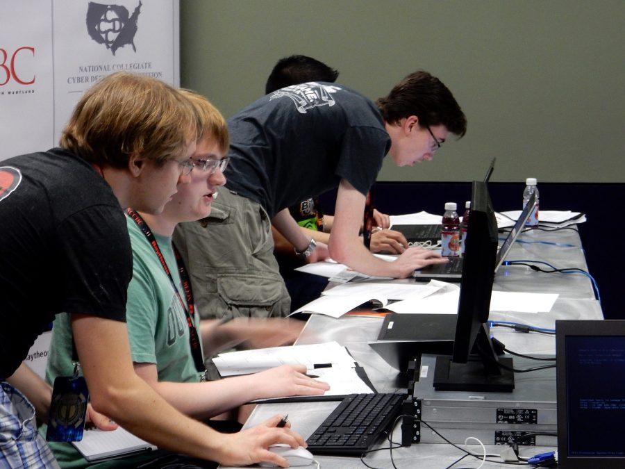 Students gain real world cybersecurity experience during competition. Jose Mireles, The Paisano
