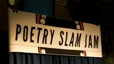 The Poetry Slam Jam took place on a stage inside of the UC Ski Lodge. Samantha Ceballos, The Paisano