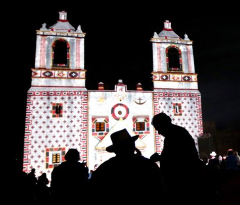 """""""Restored by Light"""" projection show at Mission Concepcion. Photos Courtesy of World Heritage Festival"""