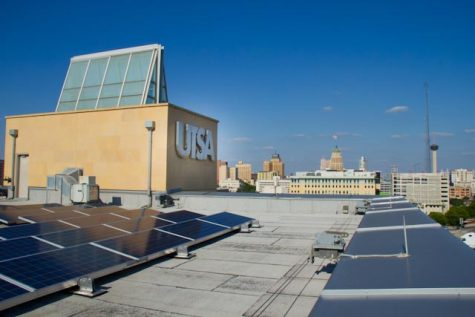 Solar panels installed by TSERI on both the main and downtown campuses will produce 427,000 kWh annually, generate savings of $86,000 annually, and reduce carbon emissions by 696,000 lbs. annually. Courtesy of TSERI