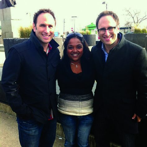 With the Sklar Bros helping film an episode of their documentary series. Photos provided by Meena Thiruvengadam