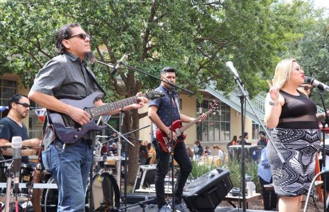 Bidi Bidi Banda performs for Calle UTSA in front of the HEB UC. Photo Courtesy of Ann Margaret Trujillo, Student Center for Community Engagement and Inclusion.