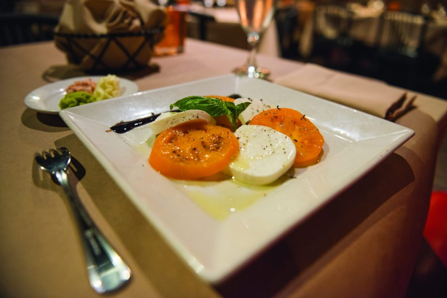 Luce's Caprese dish. Photos by Ethan Pham, The Paisano