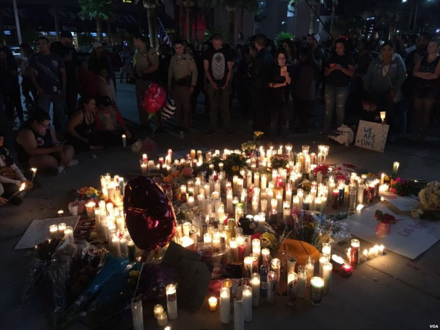 Vigil held in Las Vegas to concert shooting victims. Photo Courtesy of Wikipedia Commons