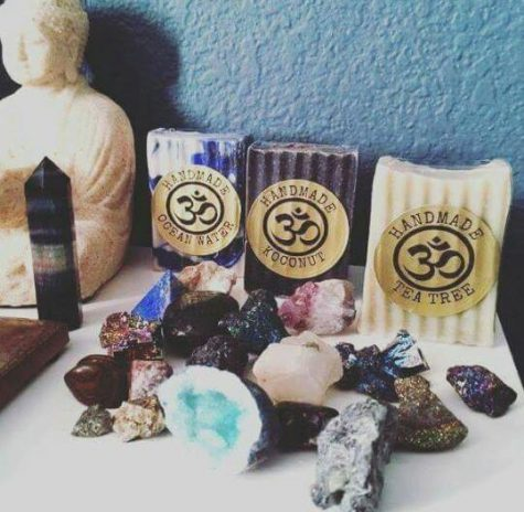 Handmade brand bar soaps available for purchase at Gypsy Market. Courtesy of Coexist Festival