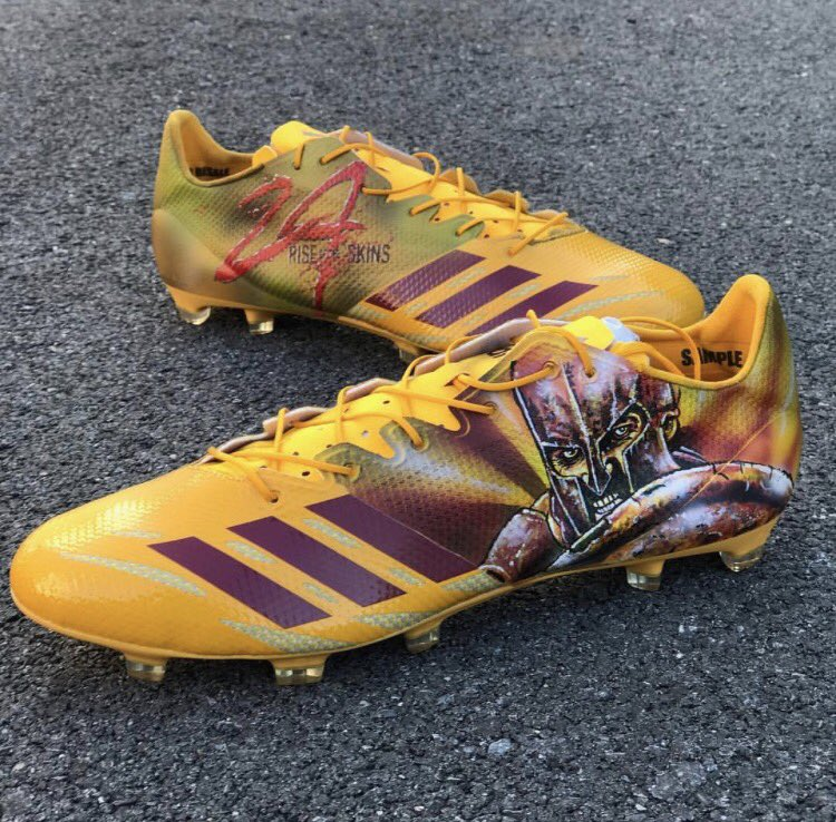 "Josh Norman's ""300"" cleats (#6). Master Tesfatsion/Washington Post"