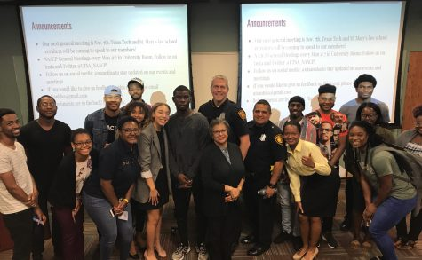 The National Black Law Student Association poses at their Know Your Rights Event. Photo Courtesy of Ana Peli, The National Black Law Student Association