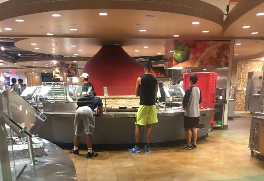 Students wait in line at the Roadrunner Café for their meals.  Photo Courtesy of a Brysen Streeter