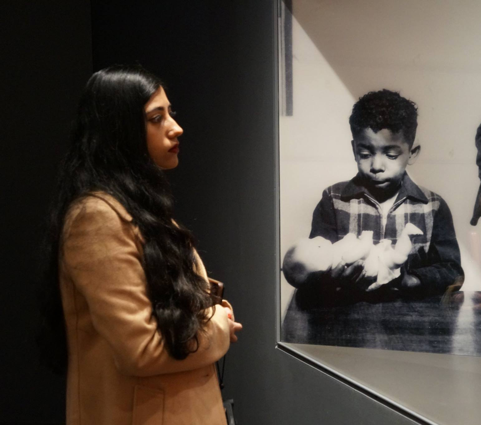 Student views an exhibit at the Civil Rights Museum in Memphis, Tennessee. Courtesy of UTSA SLC