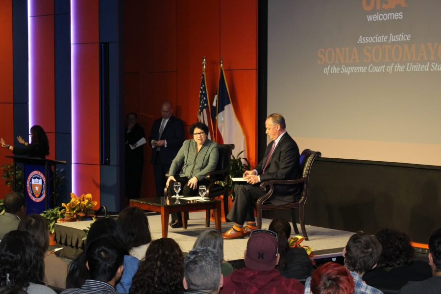 U.S. Supreme Court Justice Sonia Sotomayor visited UTSA on Jan. 25, 2018. Gaige Davila/The Paisano