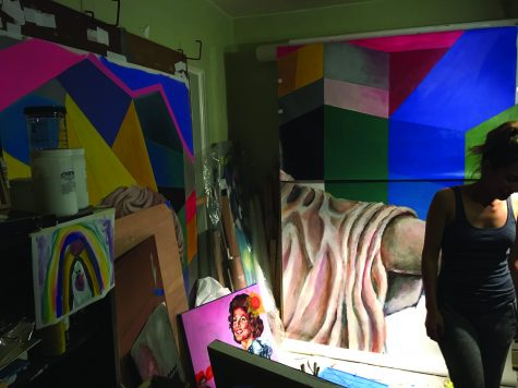 Ana Hernandez Burwell in her studio. Aurelio Minesinger/The Paisano