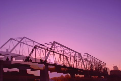 The Hays St. Bridge is one of the few places in the city that has an unobstructed view of the San Antonio skyline. Emily Hubbard/The Paisano
