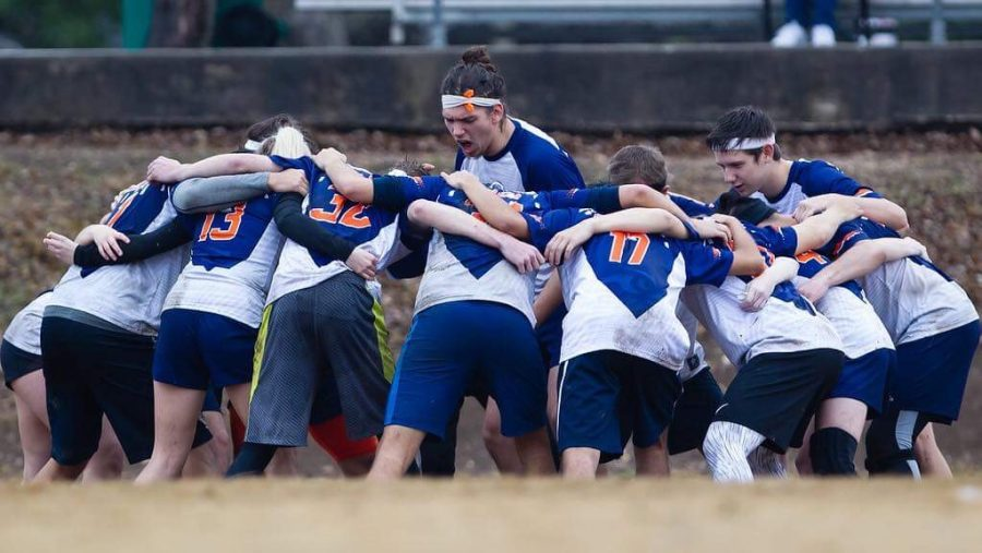 The+Quidditch+team+gets+pumped+up+before+their+match.+Image+courtesy+of+rmstewartphotography