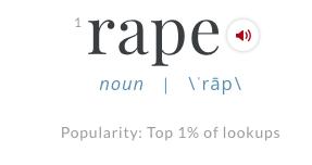Image of the word rape.