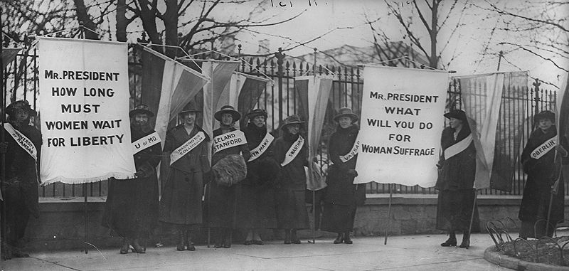 Suffragists during the early 19th century. Courtesy of Creative Commons