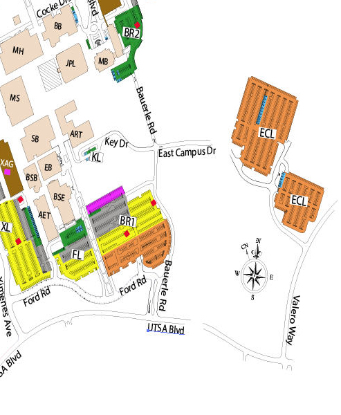 UTSA East Campus Map. Photo courtesy of UTSA