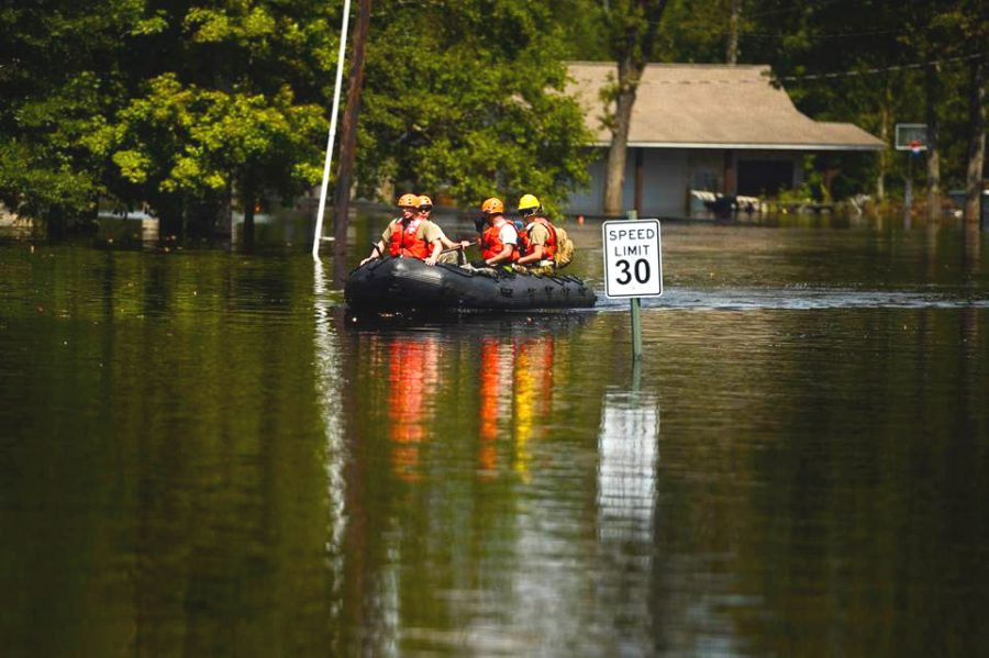 Flooding from Hurricane Harvey.  Photo courtesy of Creative Commons