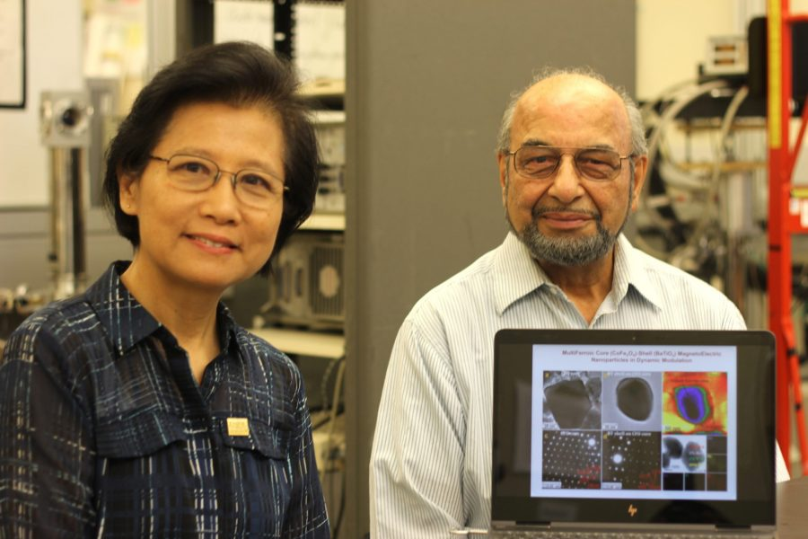 Dr. Ruyan Guo and Dr. Amar Bhalla in their lab. Brandon Armstead/The Paisano