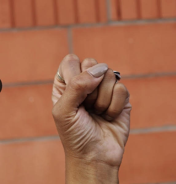 The raised fist is has long been the symbol of resistance and empowerment.  Photo courtesy of Katherine Perks