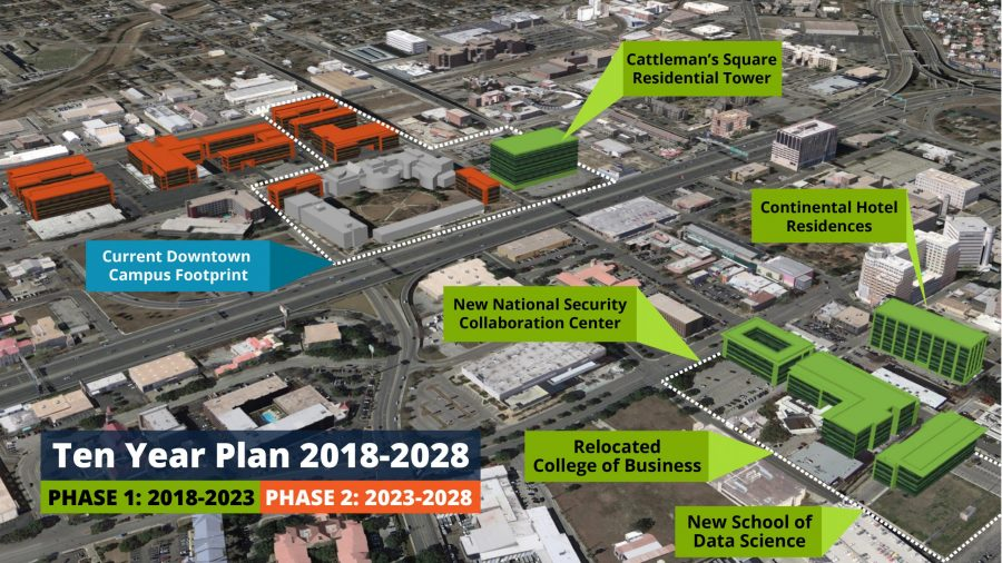 Map of Downtown Campus expansion plan.  Photo courtesy of UTSA