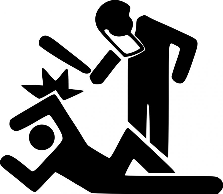Graphic of police officer beating a man on the ground