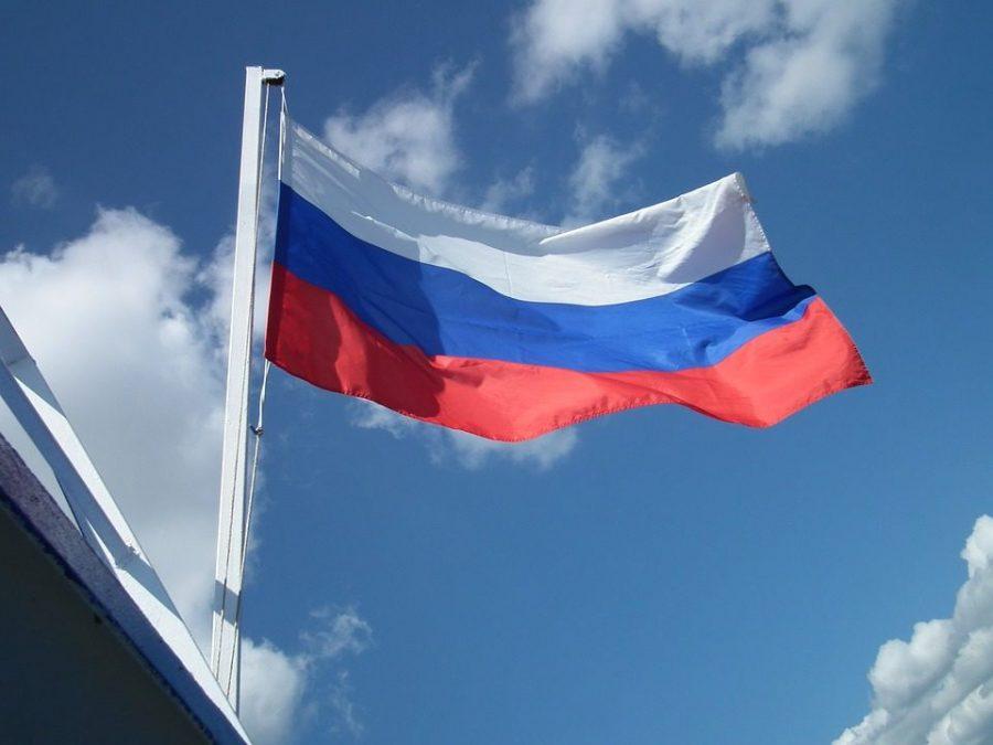 Russian flag waving