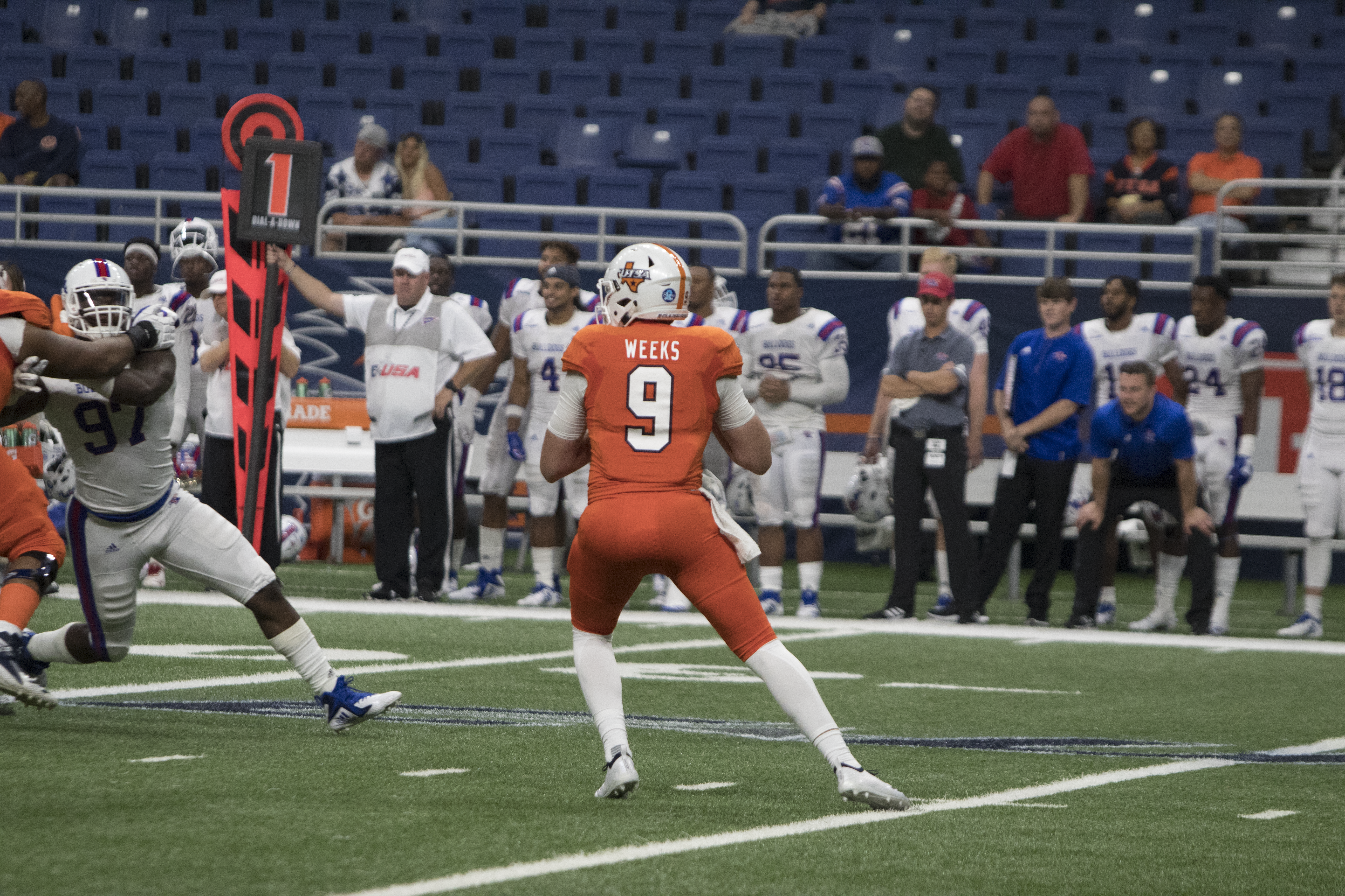 Weeks getting some snaps during the fourth quarter.  Renato Lopez/The Paisano
