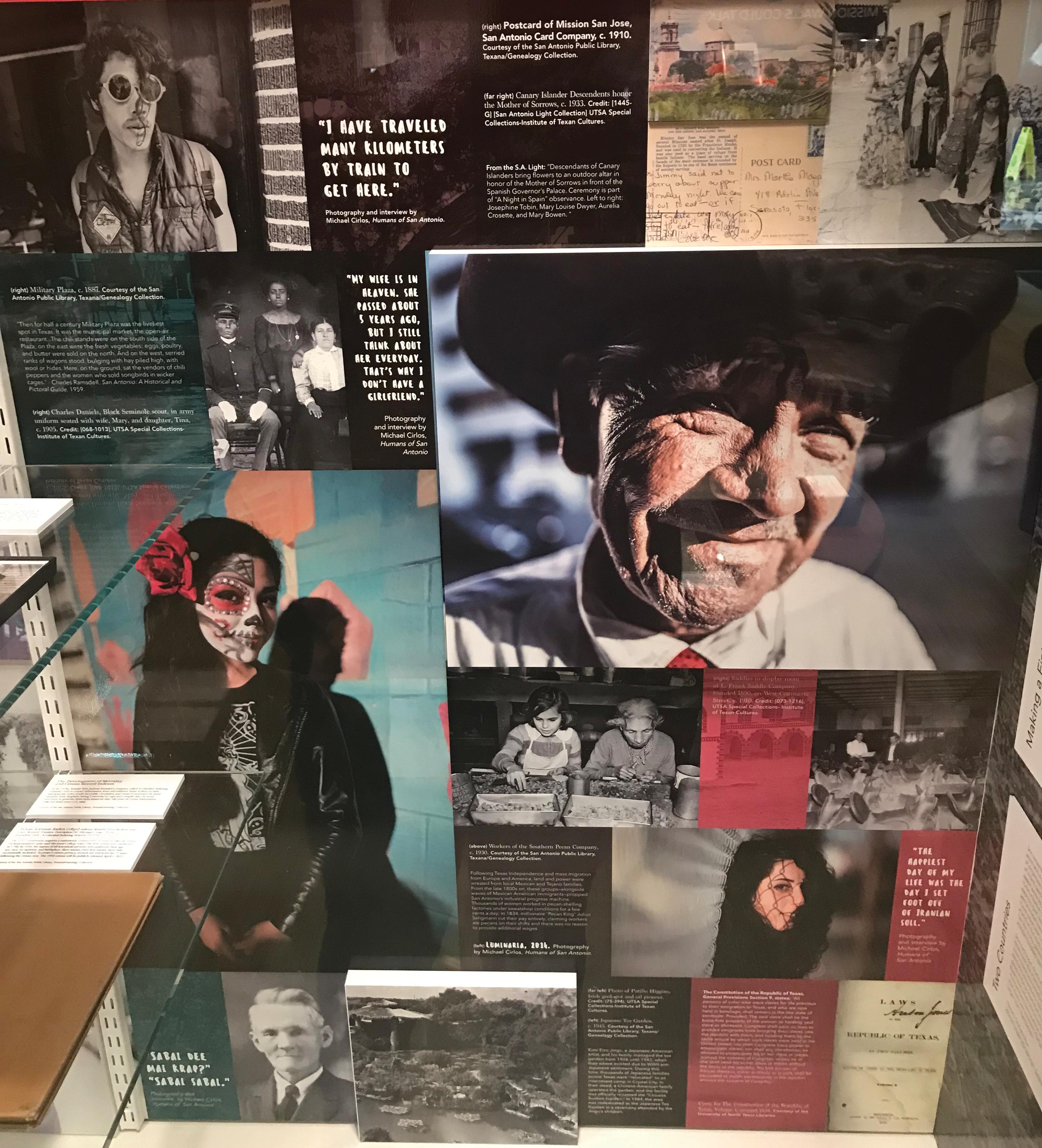 Generations of San Antonio citizens are honored at the DreamWeek exhibit. Photo courtesy Alfonzo Mendoza