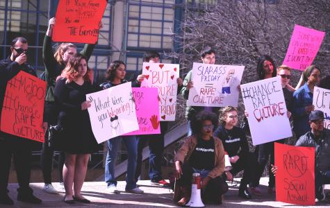 #ChangeRapeCulture protest at Sombrilla