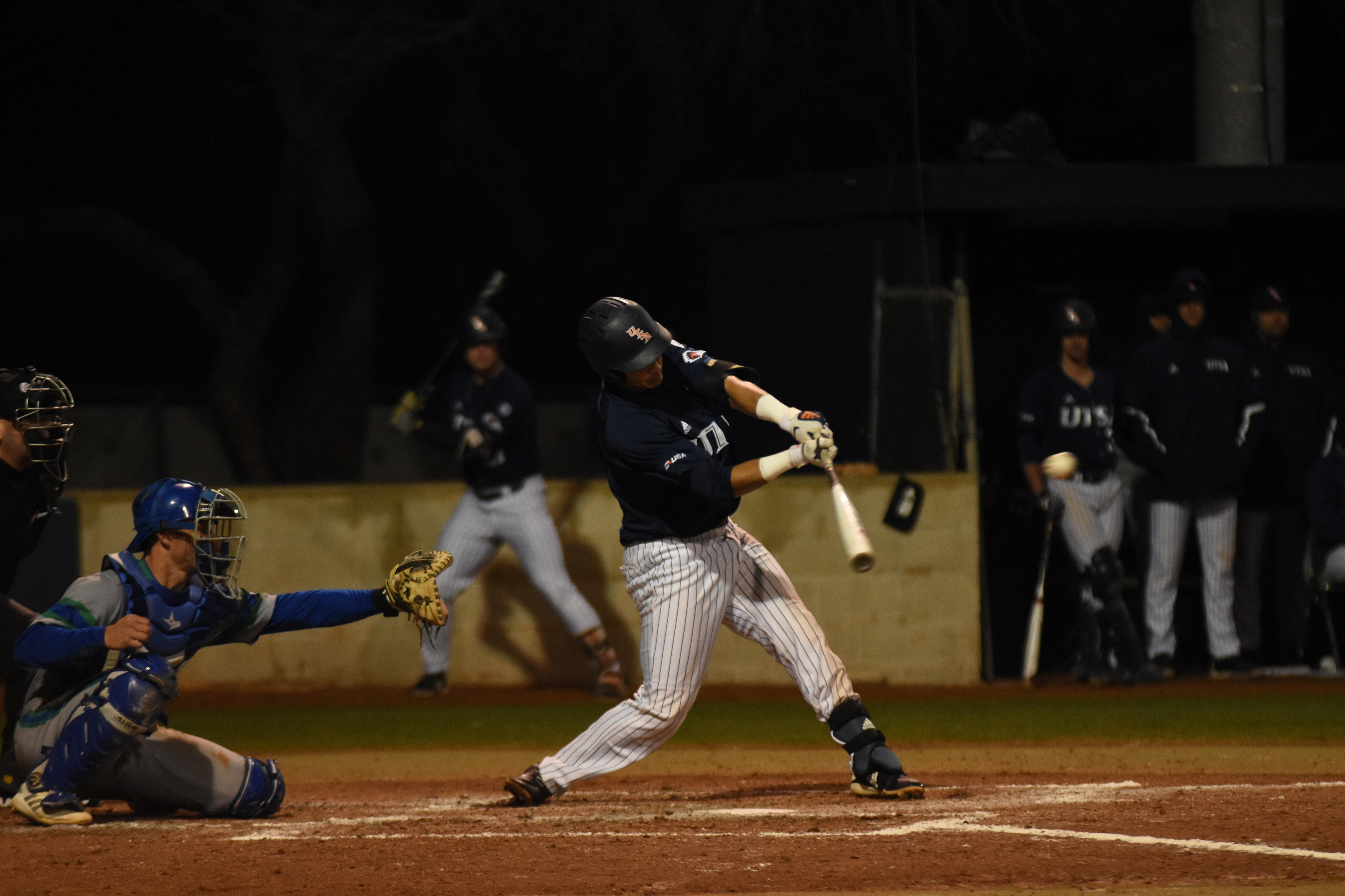 Bryan Arias takes a swing at a pitch. Jack Myer/The Paisano