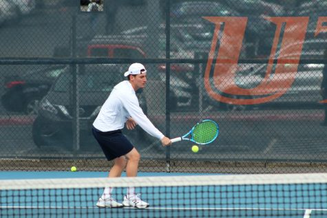 Men's tennis competes in Houston