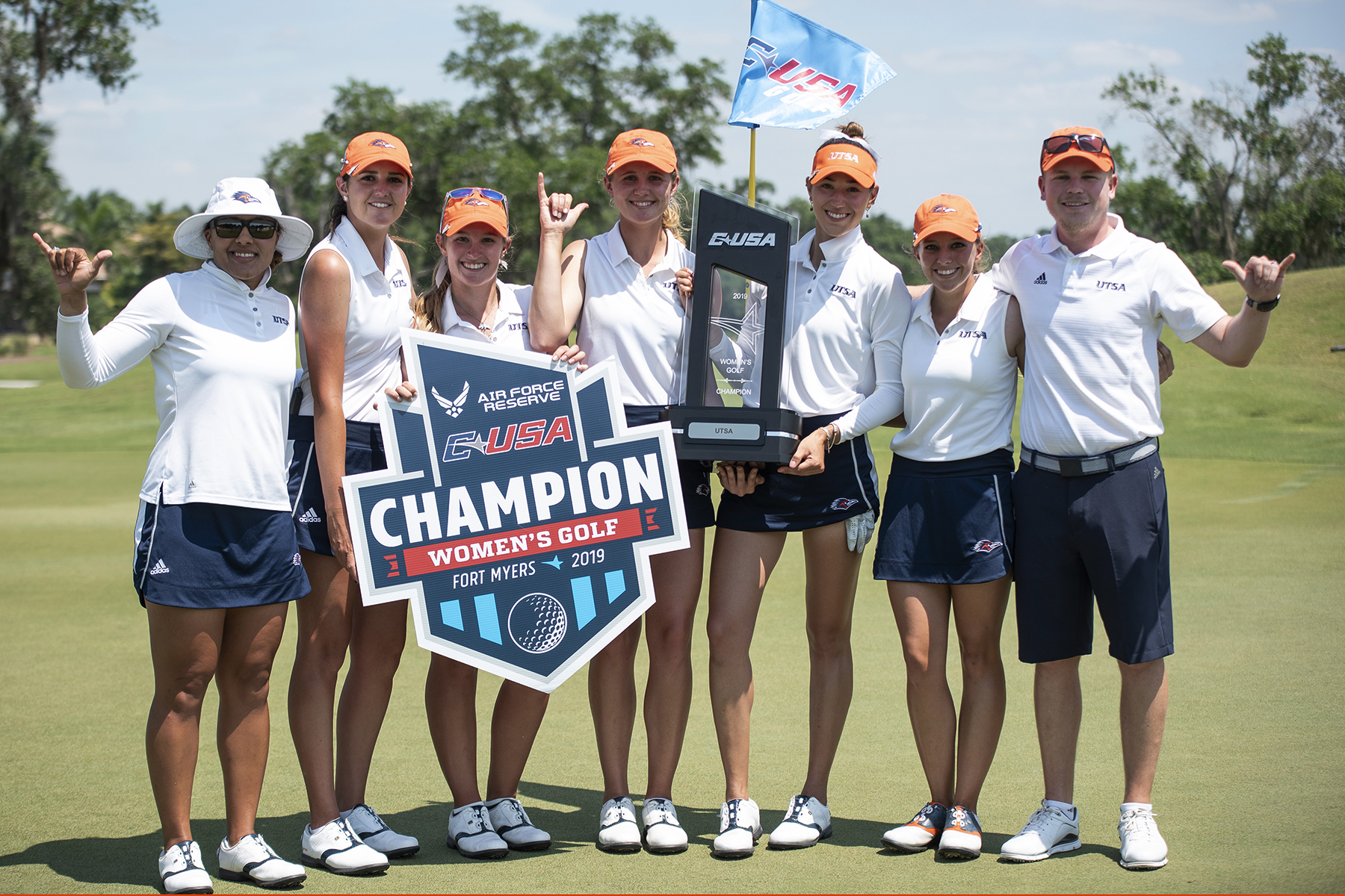 'Runners after they won their championship. Photo courtesies of Conference USA