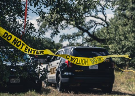 SAPD investigates skeletal remains found near Babcock and 1604. Photo by Emilio Tavarez