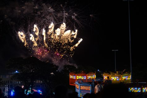 Fireworks on display at BestFest. Photo by Emilio Tavarez