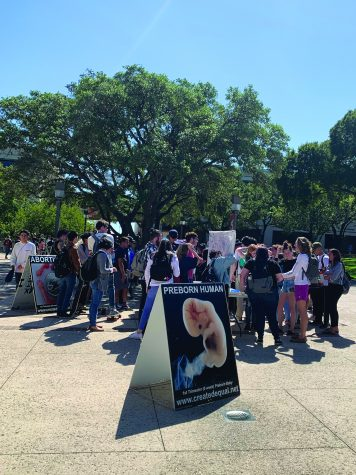 Students express opposing views on abortion