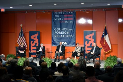 Margaret E. Talev, Richard N. Haass, Stephen J. Hadley, Jeh Charles Johnson and Mary Beth Long spoke on foreign relations. The foreign policy event was one of four happening in the country.