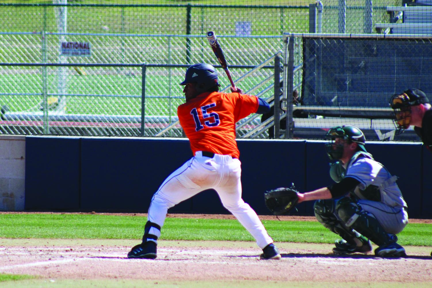 Bryan Sturges bats for the Roadrunners. The 'Runners will open their season on Valentine's Day at the Roadrunner Field.