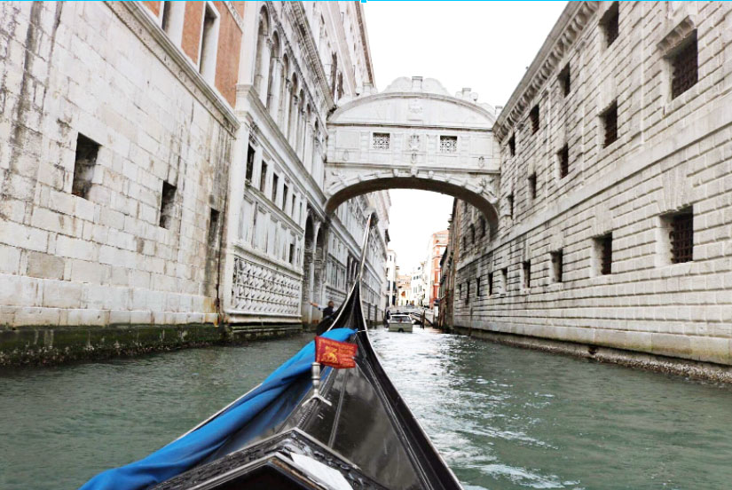Gondola rides through Venice, Italy. UTSA recently decided to recall all students, faculty and staff from Italy study abroad programs.
