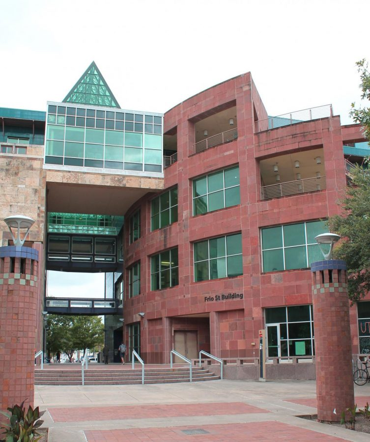 Frio St. Building sits in the center of the Downtown Campus. President Taylor Eighmy envisions a major expansion of the Downtown Campus over the next 10 years.