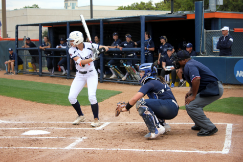 Celeste Loughman watched a pitch come across the plate. The 'Runners will return to their home field on Wednesday.