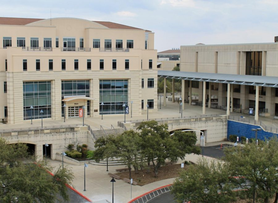 The Main Building and JPL at the UTSA Main Campus. A UTSA official apologized to donors for an email that mentioned both the COVID-19 pandemic and estate planning.