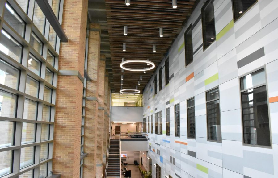 The interior of the newly constructed Science and Engineering Building. The students selected for the competition will be able to test their science and engineering skills against other students around the country.